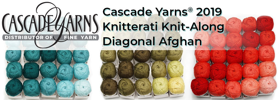 Cascade Yarns 2019 Knitterati Knit-Along Gradient Lapghan