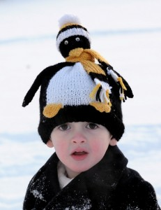 Knitted Pucky Penguin Hat