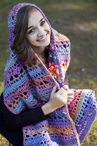 Knitted Hats Patterns Easy : Cascade Yarns  - Crocheted Shawls, Capes and Wraps Patterns