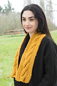 Cascade Yarns® Free Boliviana Bulky Pattern B243 Easy Cabled Scarf
