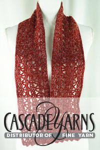 Cascade Yarns free Eco+ Hemp Pattern DK630 October Lace Scarf