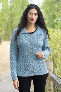 Cascade Yarns®  Free 220 Superwash®  pattern W587 Cables and Lace Cardigan